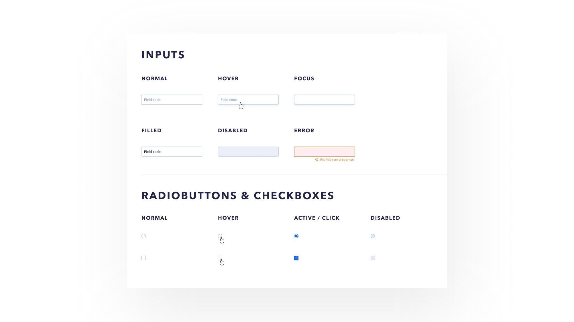 Tne elements UI Kit consists