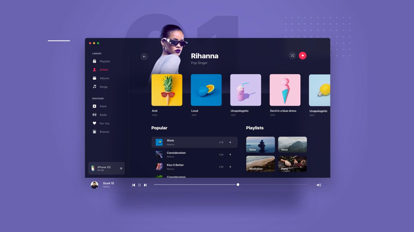UI/UX Interface Design, UX Development, UI Design — Evergreen