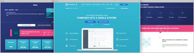 Development Protemos – Translation project management system for freelancers and translation agencies