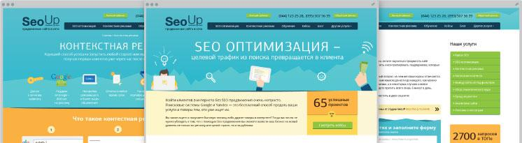Development SEOUp – Landing website for the company of promotion and advertising of web-projects on the Internet
