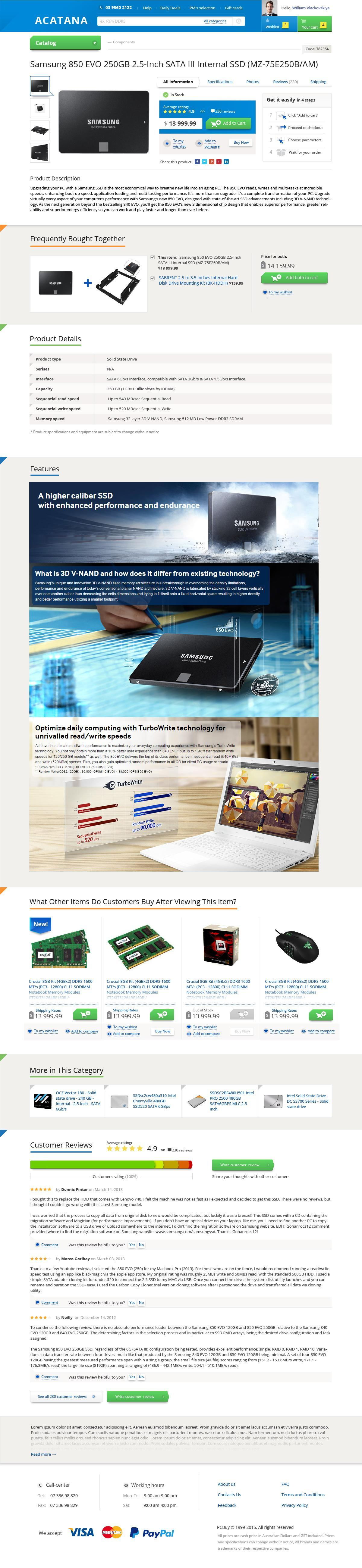 prototyping and design for the large-scale PC accessories and hardware online store (Australian market) | Evergreen projects 7